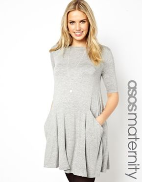 ASOS Maternity Swing Dress with Pockets. $47 (Get $15-50 off with minimum purchase.) #MaternityFashion