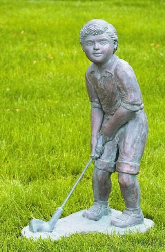 Elegant This Large Scale Golfer Boy Will A Perfect Center Piece For Your School,  Home Or Public Golfing Place Or Gift To Golf Lover.