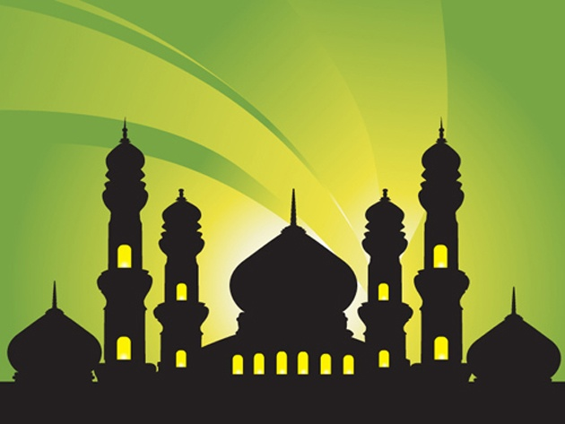 Mosque Background Vector Silhouettes