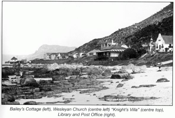 The South West Corner. This section of Muizenberg is steeped in history for it was here the Dutch (1652-1795) built the Posthuys (c. 1740), and in 1789 a powder magazine on the seaside of the 'hard' road opposite the Posthuys. Later a battery and breastworks (low temporary defensive walls or parapets) were constructed here to defend the Cape from the First British Occupation of 1795. Along this short route there are no less than eight National Monuments. These are the Posthuys, the Old Post…