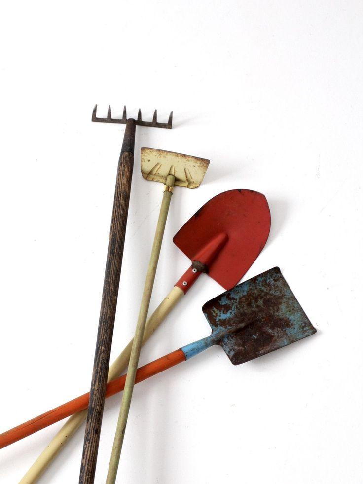 vintage children's garden tool collection