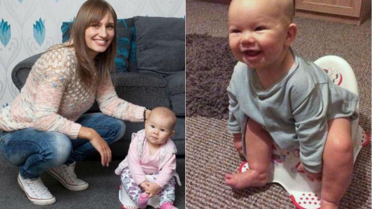 Desfralde precoce: bebê de 5 meses surpreende ao usar o penico