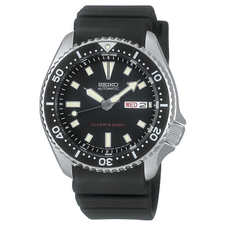 Seiko Sports Automatic Dive Watch, Men's, Black