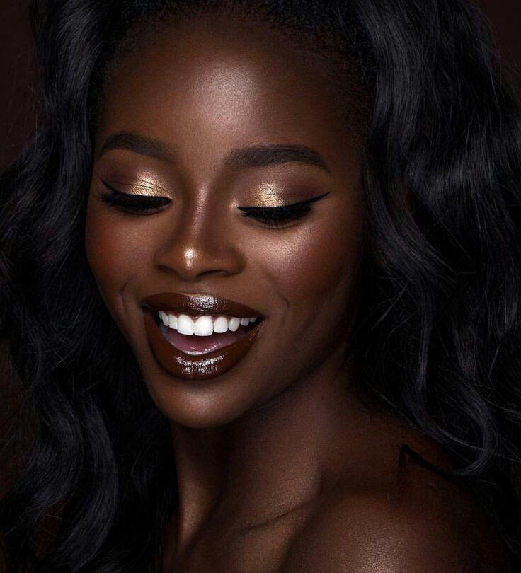 Maquiagem para pele negra | make up✖️ de 2019 | Maquiagem pra pele negra, Beleza da pele negra e Maquiagem para pele negra