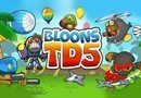 Bloons Tower Defense 5. Help the monkey to destroy the balloons and to save its territory. Buy and place the monkeys in various places in order to defend the tower. Source: http://www.friv-top.com/bloons-tower-defense-5.html
