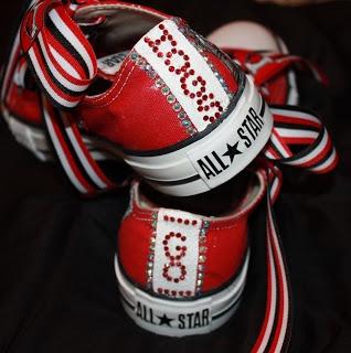 Blinged Out Converse | ... : Custom University of Arkansas*Razorbacks* Converse Tennis Shoes