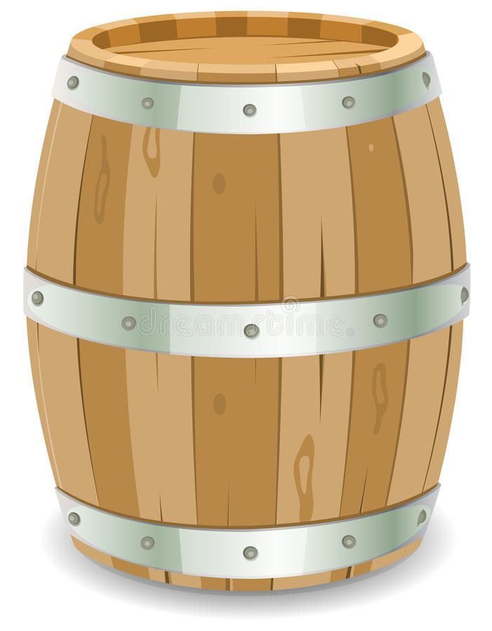 Barrel Illustration Of A Cartoon Wooden Wine Barrel With Iron Strapping And Nai Sponsored Wooden Wine Barrel Wine Barrel Wooden
