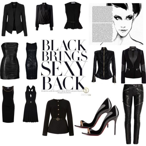 """""""Sexy Black!"""" by lollahs on Polyvore"""