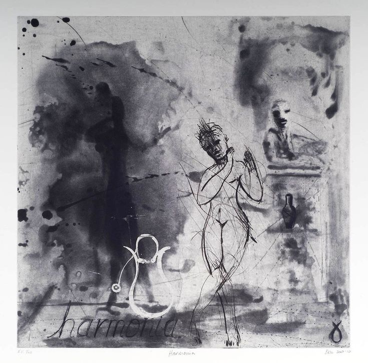 Harmonia I (2010). Edition of 20. Spitbite Aquatint and drypoint