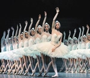 "I love these white tutus from the Paris Opera Ballets' ""Swan Lake"""