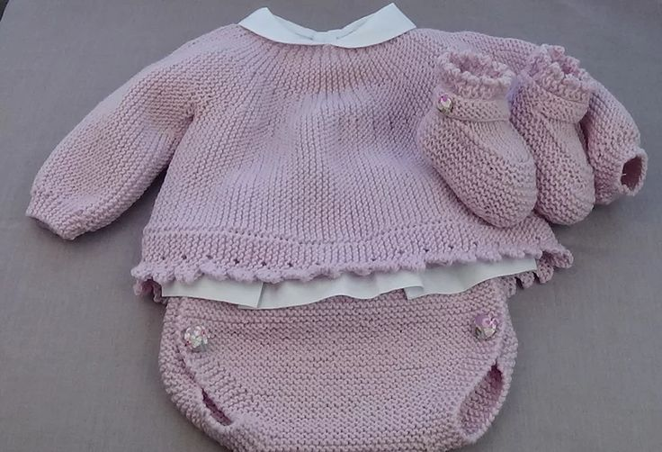 tutoriales jersey de bebé, video e instrucciones, baby knitting