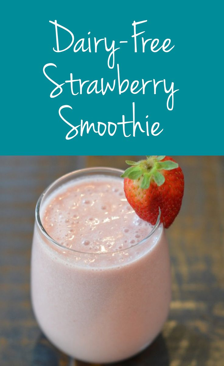 Dairy-Free Strawberry Smoothie | Healthy Belly Happy Mind