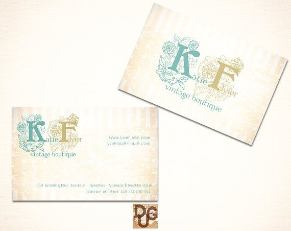 Initials Logo Business Card  Personal Card with by DreamUpGraphic, €9.50
