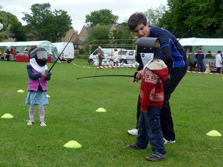 Never too young to learn how to fence! These children get to grips with their fencing swords whilst Sports Xtra coach, Dale Moore, oversees everything.    #fencing #physicalactivity #sports #children