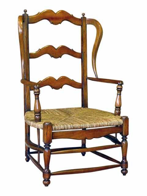 Grand Father Rush Seat.  #HandmadeFurniture from solid Mahogany wood with #RushSeat by #sokokayu