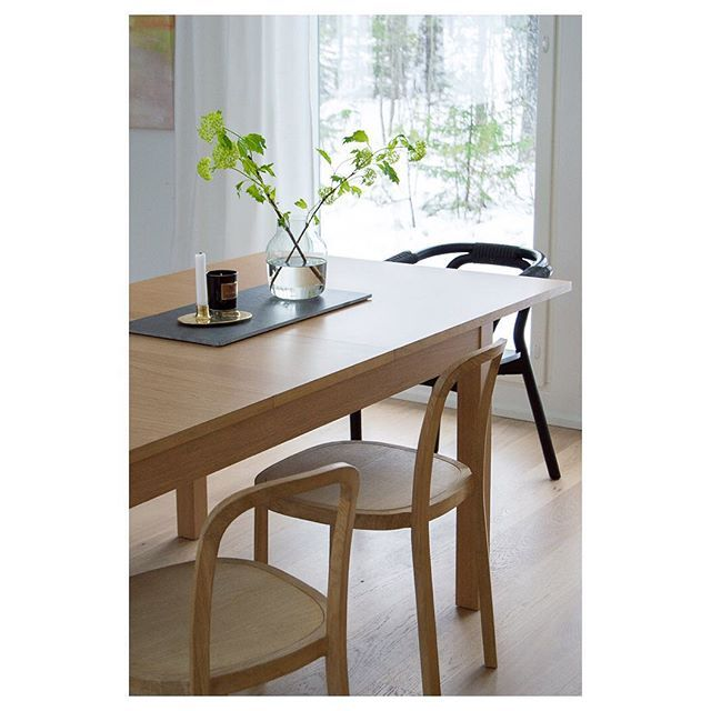 Woodnotes Siro+ oak chairs use for a dining chair.