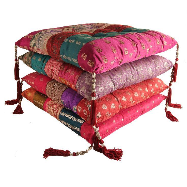 Antique Sari Chair Pad