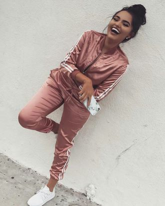 d8807ec2d7 jumpsuit rose gold addias sweater adidas tracksuit adidas jacket pants silk  satin pink adidas sweatsuit joggers track suit any colour cute dope joggers  ...