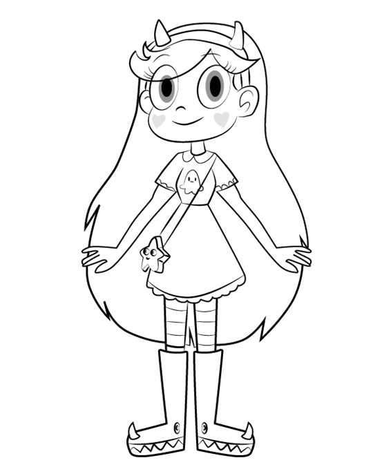 Star Butterfly Star Vs The Forces Of Evil Coloring Page