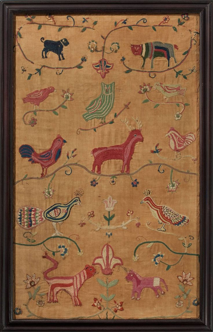 Rare Pennsylvania Needleworks, dated 1743 image 5
