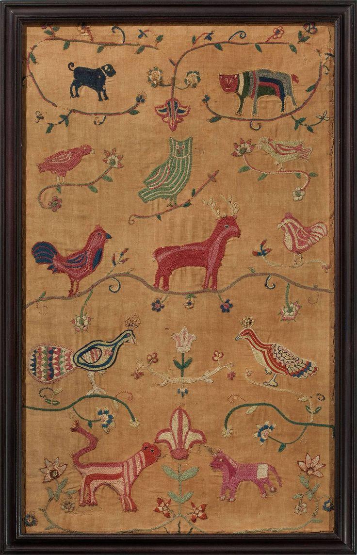 Rare Pennsylvania Needleworks, dated 1743 image 5
