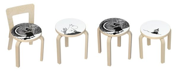 In 2013, Artek introduced a line of illustrated furniture especially for children. This collaboration combined two hallmarks of Finnish culture: Alvar Aalto's iconic designs, and Tove Jansson's beloved Moomin characters. Tove Jansson created her first Moomin-like character in a 1943 illustration for the magazine Garm. The Moomin world achieved international attention when her third book, Finn Family Moomintroll (pictured above), was translated and published in English. The many adventures of…