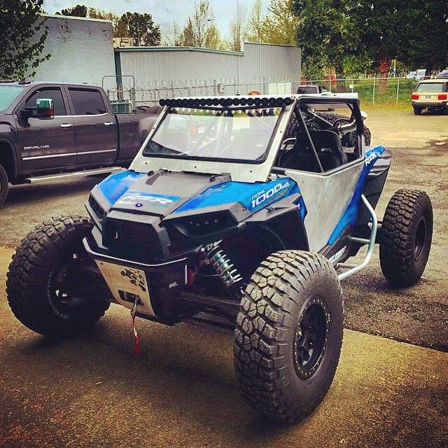 lowered ride hight, stance on stock springs - Polaris RZR