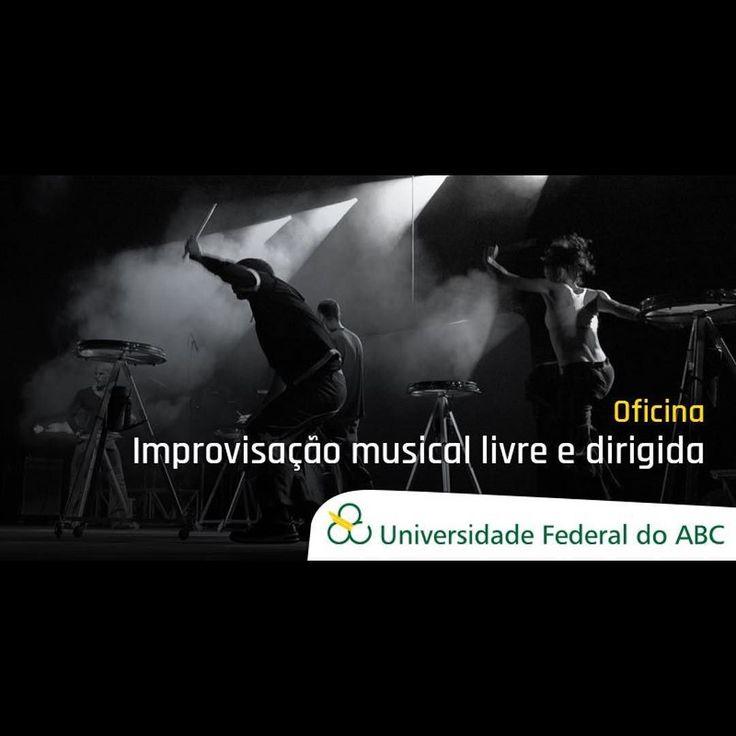 """Estou oficialmente apaixonada pela #ufabc. Que coisa mais linda esse curso de extensão!  Oficina """"Improvisação musical livre e dirigida"""". Público alvo: Músicos artistas de outras linguagens educadores e interessados. Segunda 09/10 das 19h ás 22h no Campus São Bernardo do Campo. 40 vagas. Gratuita e aberta ao público. Inscrições: http://ift.tt/2fxbQzT #musica #curso #abc #improvisacao #agentenaoquersocomida #avidaquer @avidaquer por @samegui avidaquer.com.br http://ift.tt/2yMAkO7"""