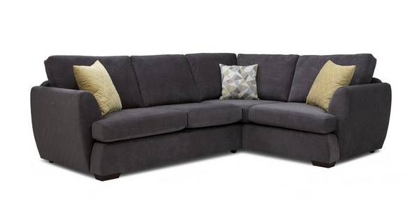 Trilogy Left Hand Facing 2 Seater Deluxe Corner Sofa Bed  Sherbet | DFS