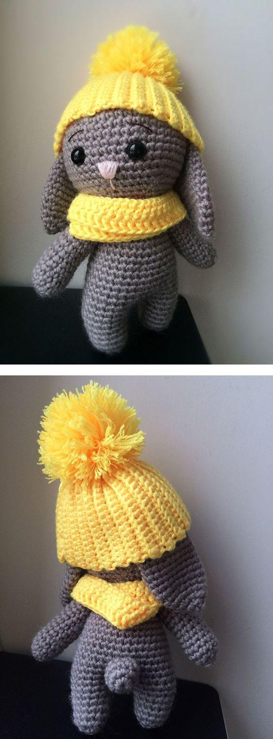 Adorable bunny - free crochet pattern