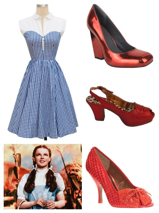 A Dorothy Gale from The Wizard of Oz Costume featuring the Hopscotch Dress in blue gingham!