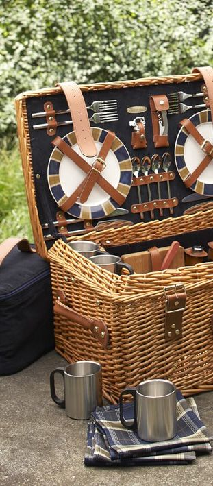 Wicker Picnic Basket                                                                                                                                                                                 More
