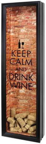Keep Calm and Drink Wine Shadowbox Frame Click through to get instructions to make this project