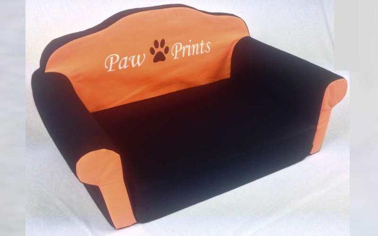 Cuccia per cane divanetto nero e arancione Medium foto 1