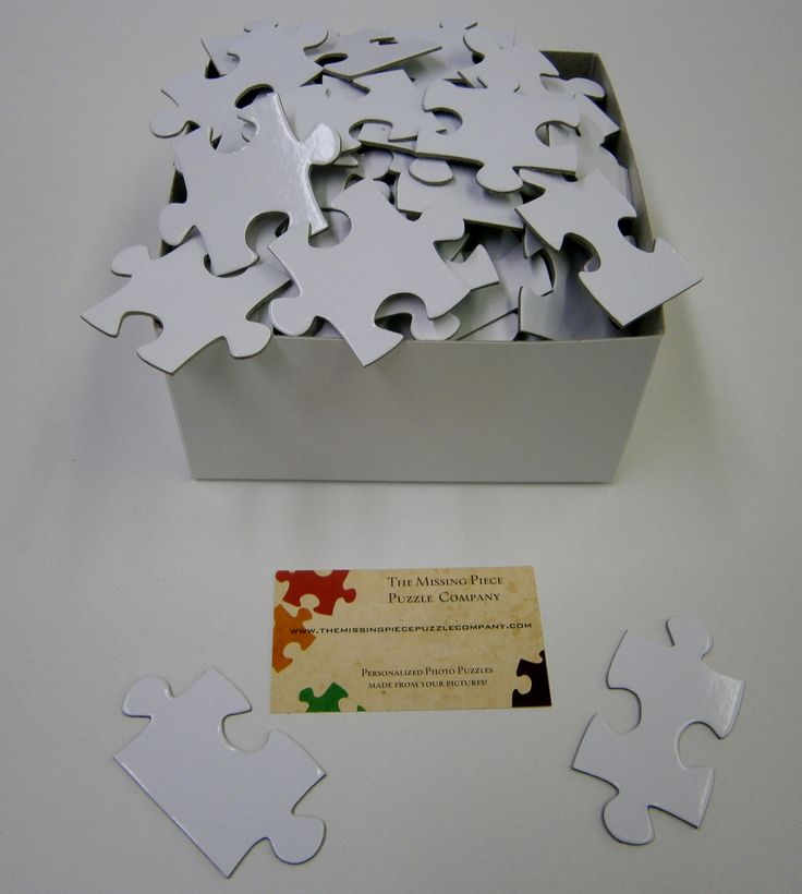 White Puzzle Pieces for Wedding Guest Book