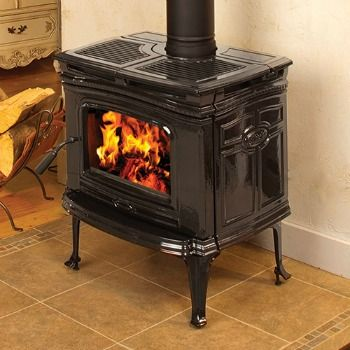 Alderlea T4 Classic- is big on performance and design.  This small stove features- a large fire display, a cook top for peace of mind during power outages and a high efficiency rating.