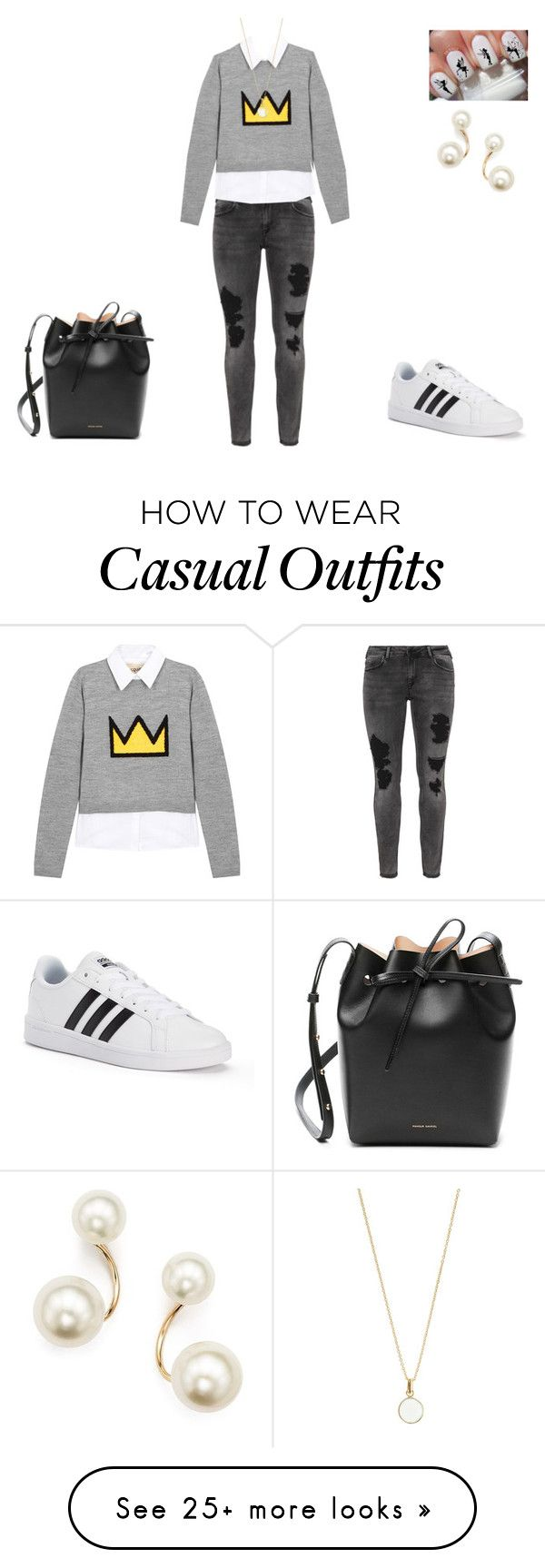 """""""Casual :))"""" by teich212 on Polyvore featuring Zizzi, Alice + Olivia, Mansur Gavriel, adidas, Disney, Zoë Chicco and Accessorize"""