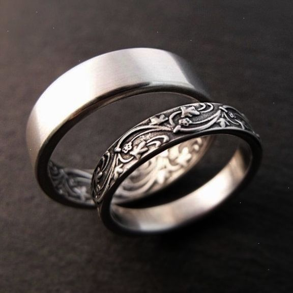 Awesome Unusual Sterling Silver Rings Uk Collect Wedding Ring Bands Silver Wedding Bands Womens Wedding Ring Sets