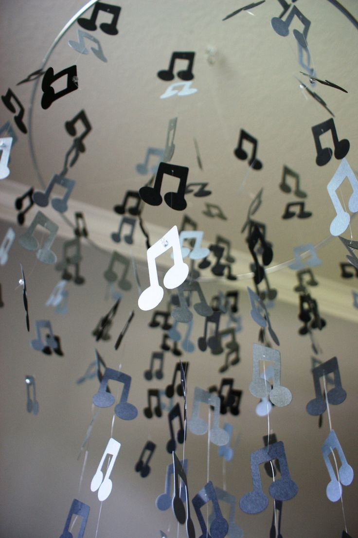 Musical Note Chandelier.