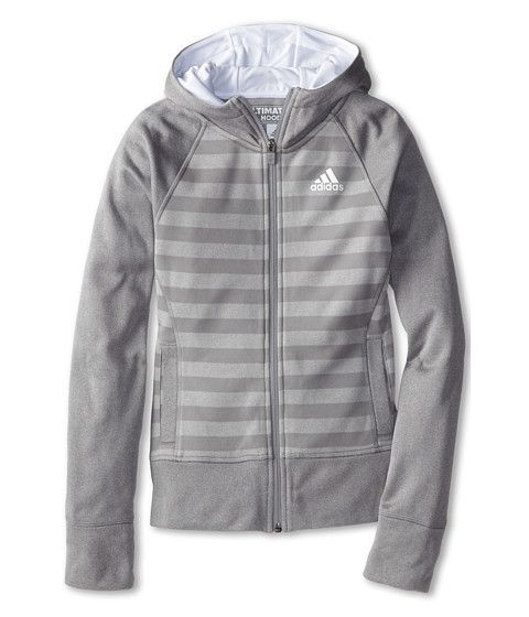 cool adidas Kids Ultimate Full Zip Fleece (Big Kids) Light Onyx/Solar Grey