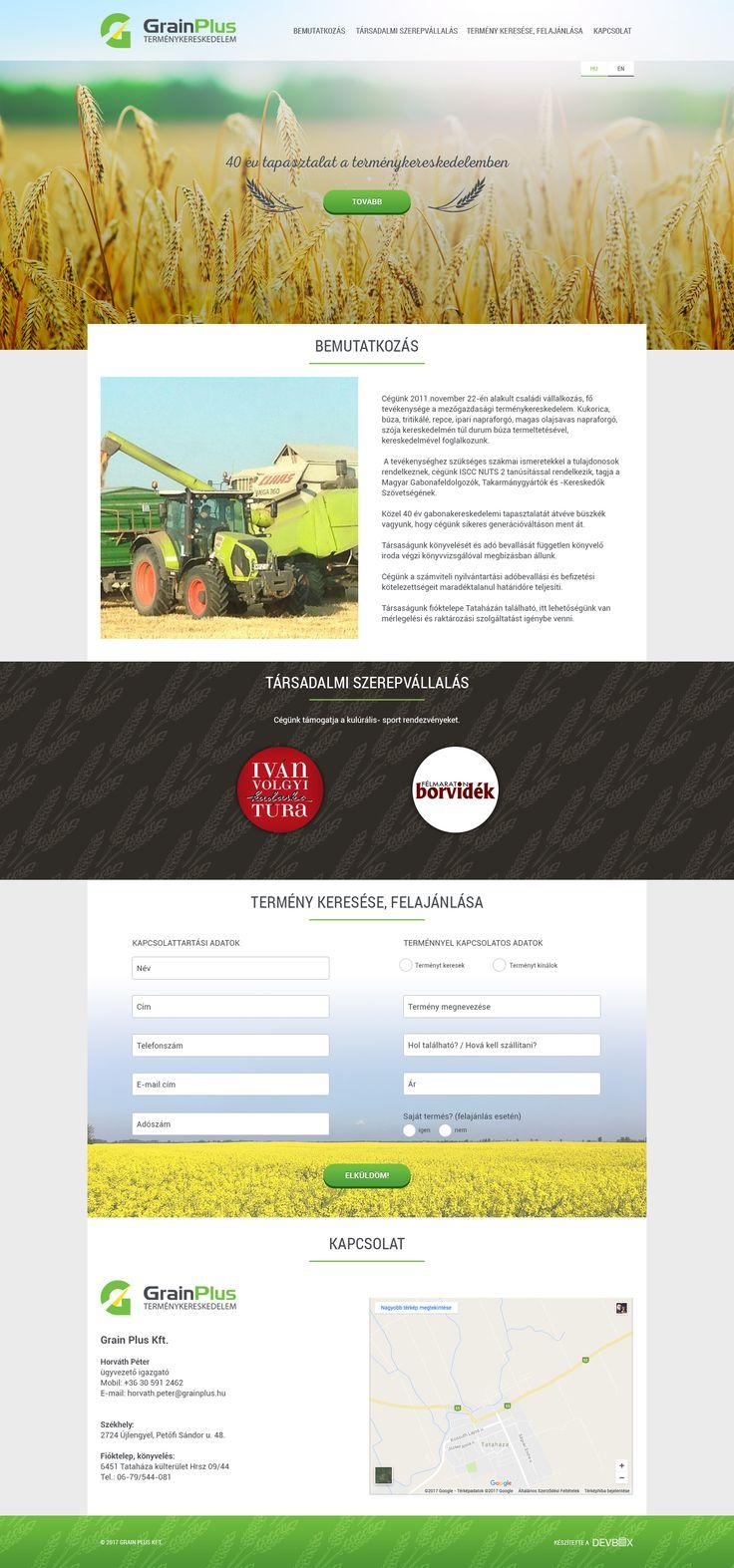 Grain.hu (2017, webdesign, sitebuild, dev)