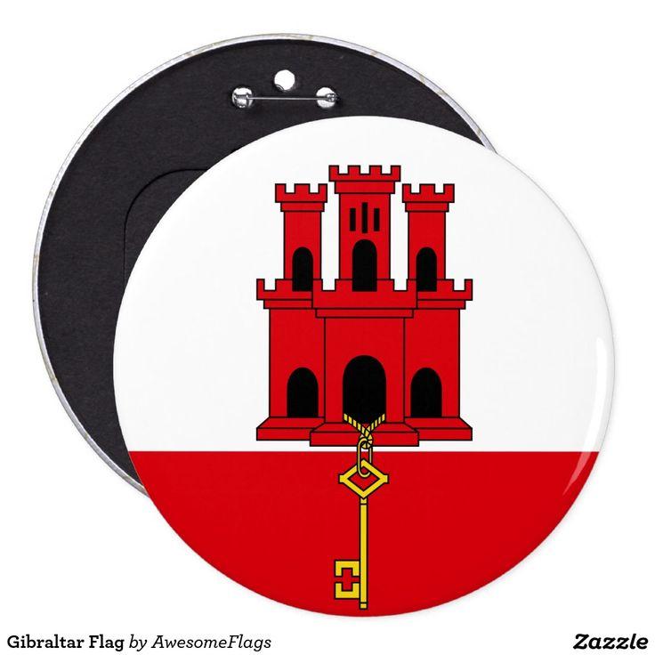 Gibraltar Flag 6 Cm Round Badge