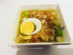 Japanse soep met noodles van Bons.