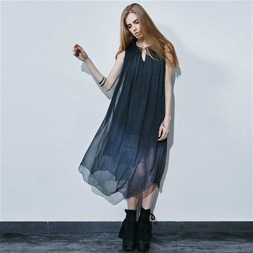 Beautiful watercolour dress by Punkrave. How would you style it?