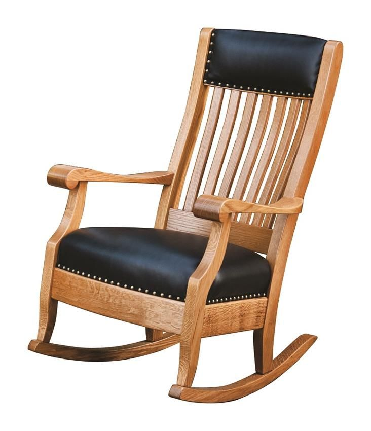 Amish Maybury Rocking Chair with Optional Footstool
