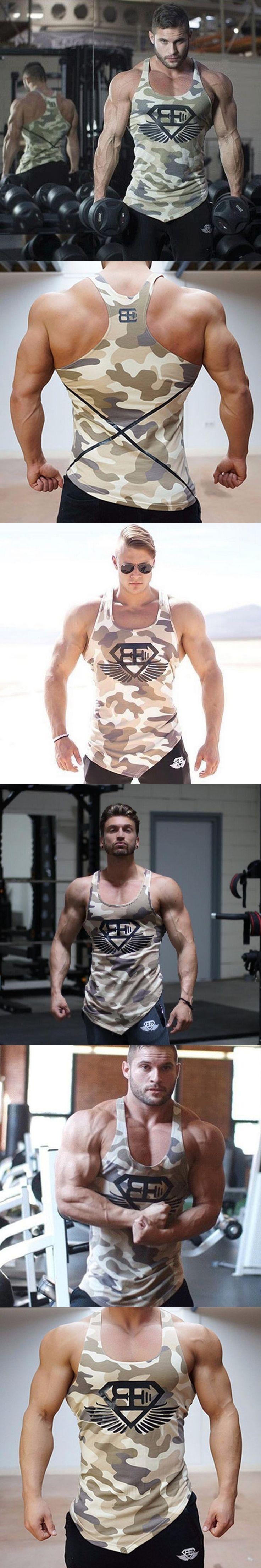 2018 Men fitness bodybuilding Tank tops gyms workout Sleeveless shirt Man Summer cool vest Casual Stringer sportswear Undershirt
