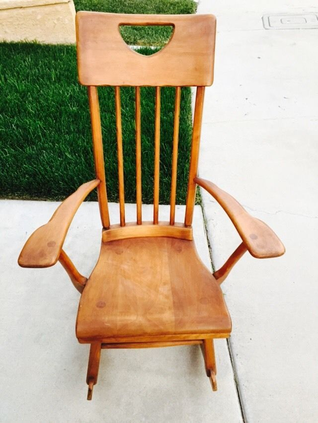 Master Crafted Sikes Co Vintage Birch Rocking Chair. Made In Buffalo NY - 40 Best Rocking Chairs Images On Pinterest Armchairs, Chairs And