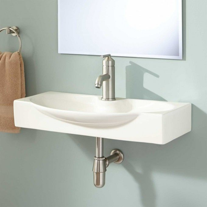Ronan Wall Mount Bathroom Sink   Bisque