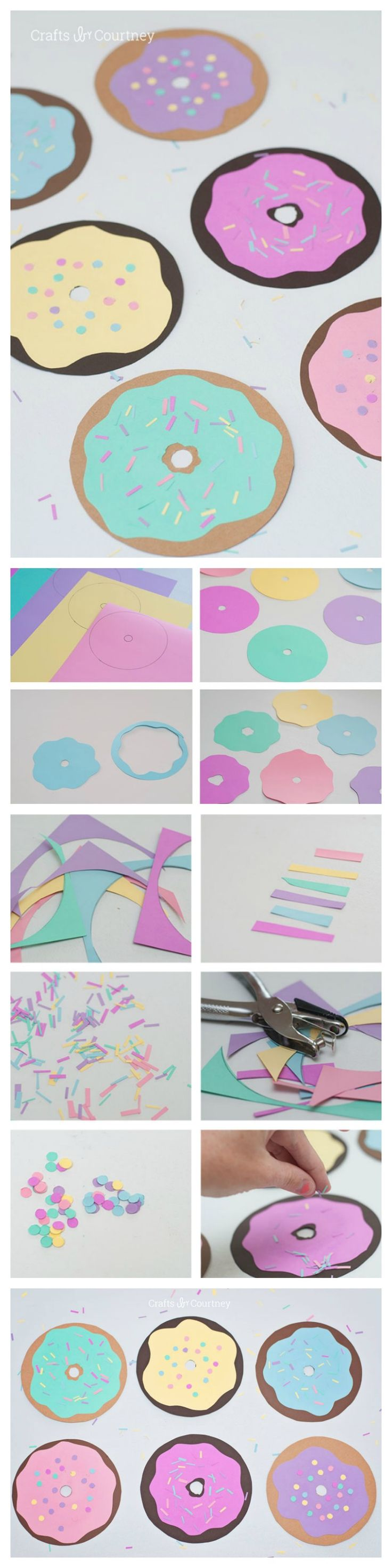 June 3rd is National Donut day so I thought, why not make a fun Donut Craft with the kids!! It's a super easy, yet a fun craft for the kids to work on this Summer.