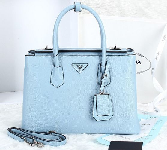 Prada Twin Saffiano Cuir tote pale blue,Prada bags 2014 on sale